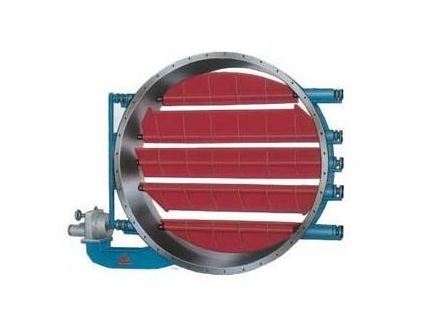 冶金阀门-圆形电动百叶阀